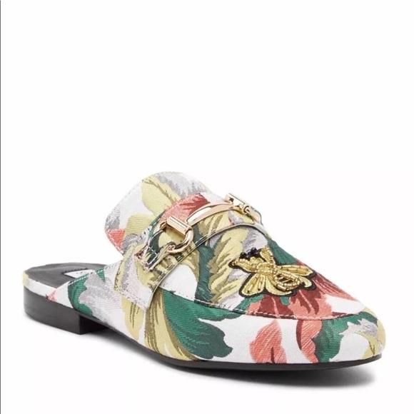 e51a54ff1e9 New Steve Madden Kandi Floral Mule Flats 6.5 M